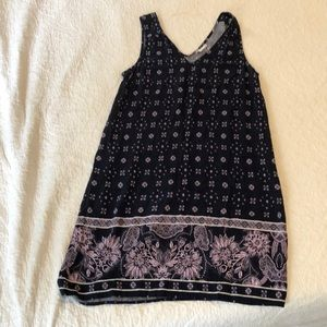 Gap dress / navy and lilac / small